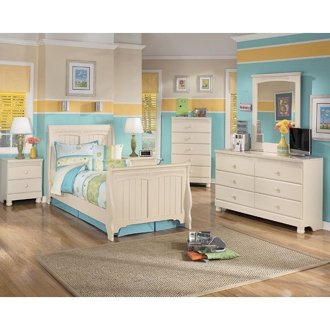 Cottage retreat sleigh bedroom set by signature design by - Cottage retreat bedroom furniture ...