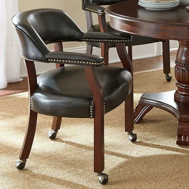 Tournament Arm Chair w/ Casters (Black)