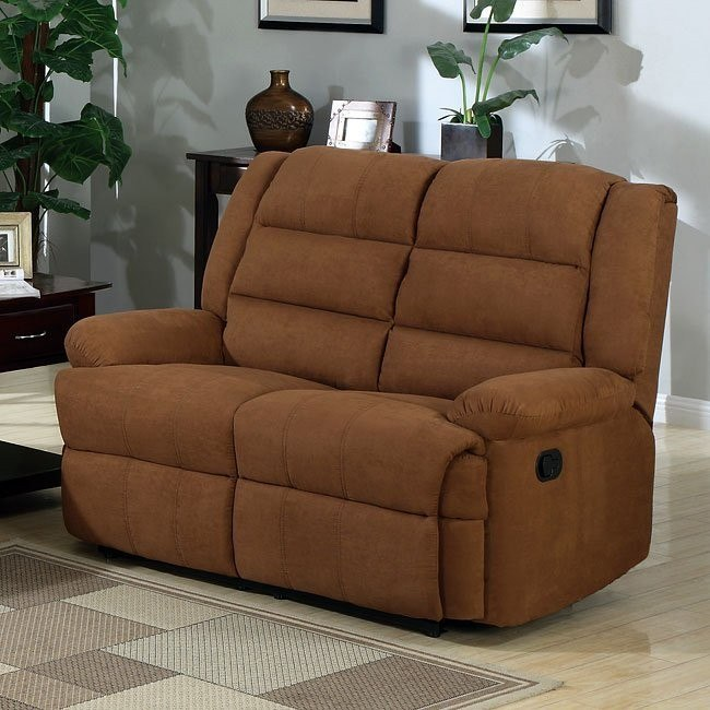 Garrett Chocolate Motion Loveseat