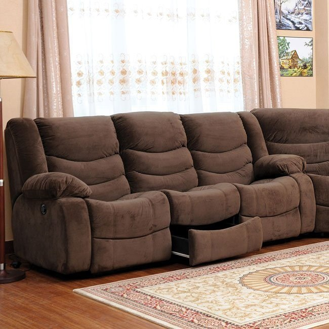 Corey Dual Reclining Sofa (Chocolate)