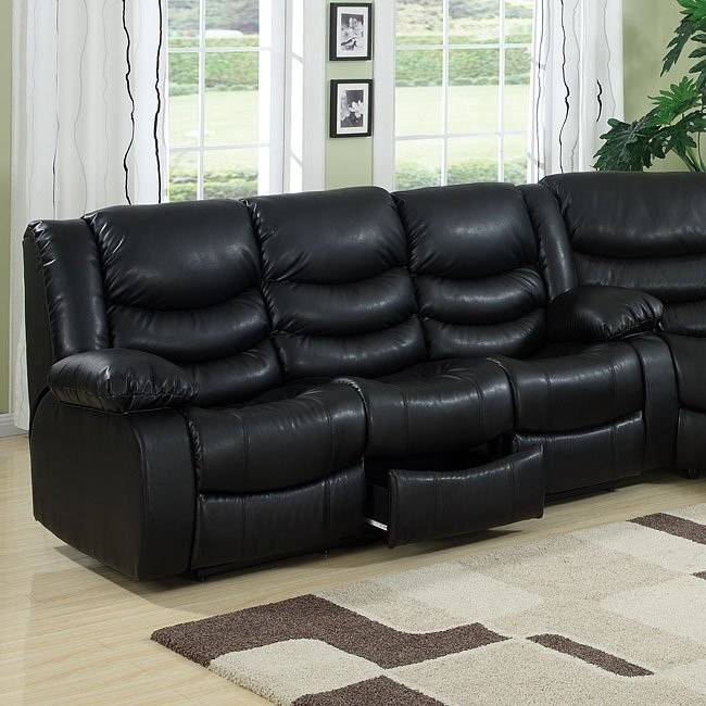 Calvin Dual Reclining Sofa (Black)