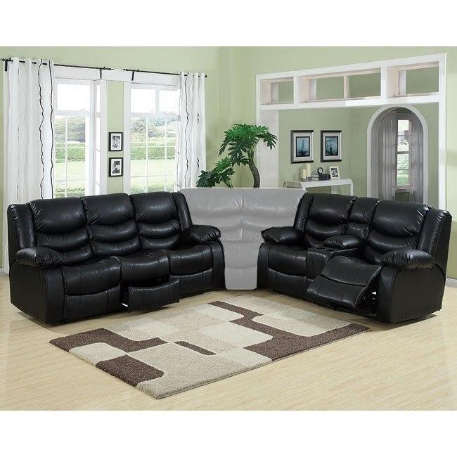 Calvin Motion Living Room Set (Black)