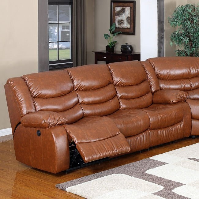 Calvin Dual Reclining Sofa (Brown)