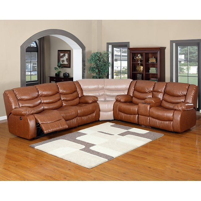 Calvin Motion Living Room Set (Brown)