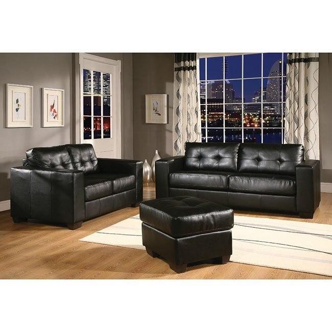 Tristan Living Room Set (Black)
