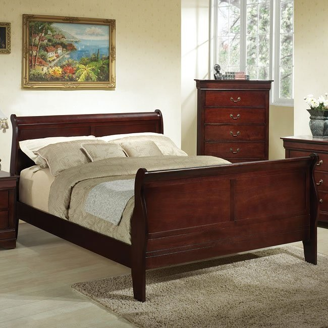 Louis Phillipe Sleigh Bed (Cherry)