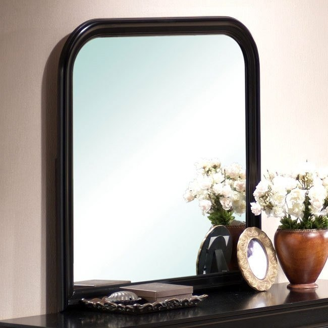 Louis Phillipe Mirror (Black)