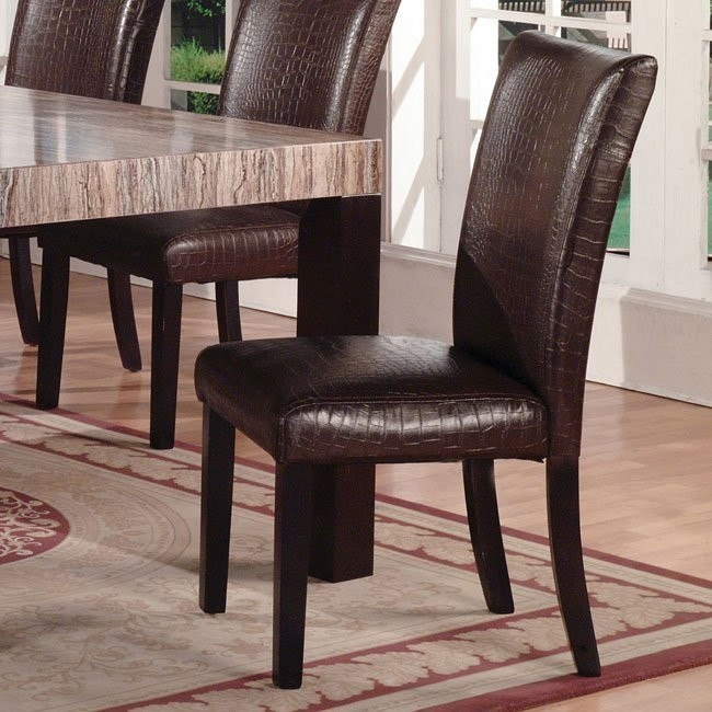 40100 Series Faux Gator Side Chair (Set of 2)