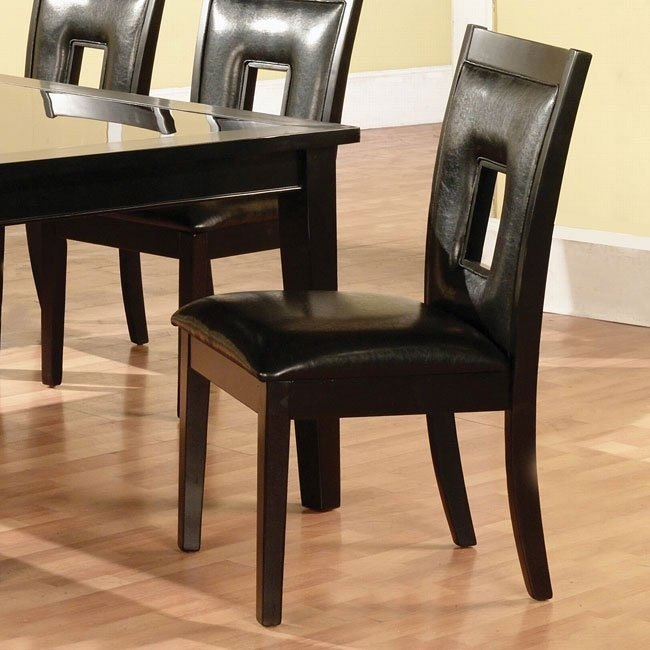 Modern Dark Side Chair (Set of 2)