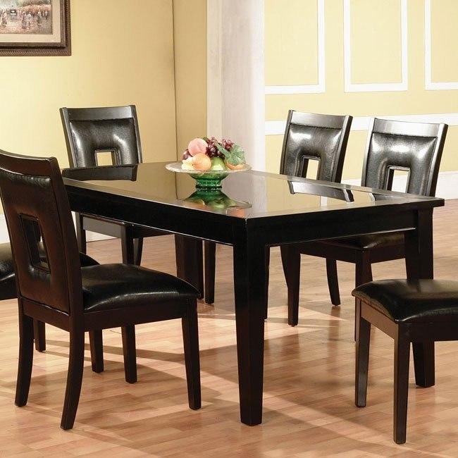Modern Dark Dining Table