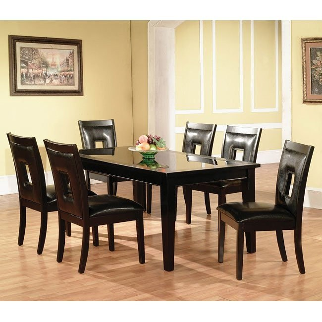 Modern Dark Dining Room Set