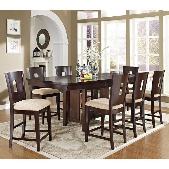 Lakewood Counter Height Dining Room Set (Espresso)