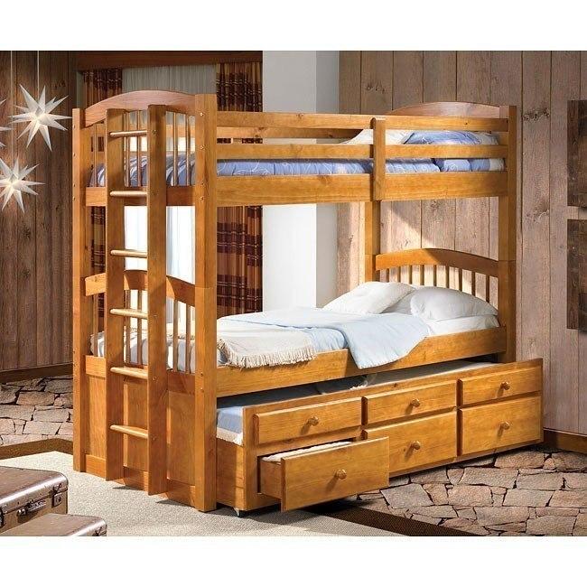 Honey Pine Twin/Twin Bunk Bed