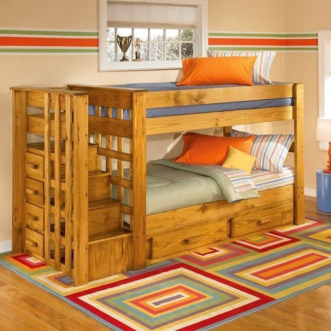 Stairstep Twin/Twin Bunk Bed