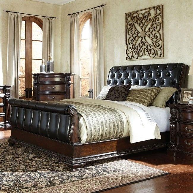 Churchill upholstered sleigh bed beds bedroom furniture bedroom for Upholstered sleigh bedroom set