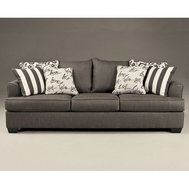 Charmant Levon Charcoal Sofa