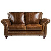 Butler Leather Loveseat (Brown)