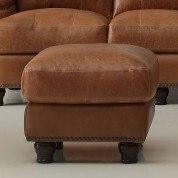 Hutton Leather Ottoman (Saddle)