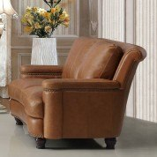 Hutton Leather Loveseat (Saddle)