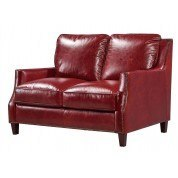 Oakridge Leather Loveseat (Red)