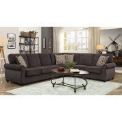 Kendrick Chocolate Sectional w/ Pull-Out Sleeper