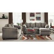 Darcy Cobblestone Sofa Chaise Set