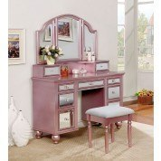 Tracy Vanity w/ Stool (Rose Gold)
