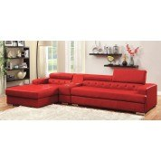 Floria Sectional (Red) w/ Console (Bluetooth Speaker)