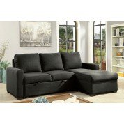 Arabella Sectional w/ Pull Out Sleeper (Dark Gray)