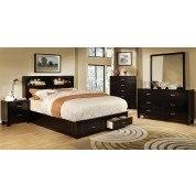Enrico Bedroom Set w/ Gerico Storage Bed (Espresso)