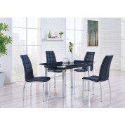D30 Dining Room Set w/ Black Chairs