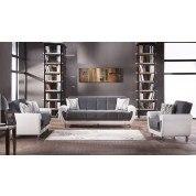 Duru Living Room Set (Plato Dark Gray)