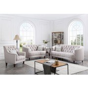 Charleston Living Room Set (Light Gray)