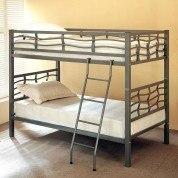 Dark Silver Metal Bunk Bed