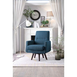 Barrel Back Accent Chair In White Coaster Furniture