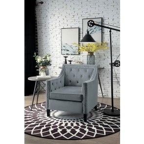 Black And White Stripe Accent Chair Coaster Furniture