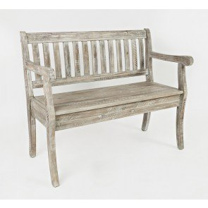 Carved Rolled Arms Upholstered Bench By Coaster Furniture