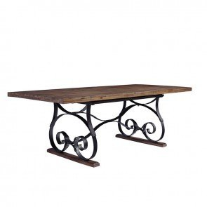 Nelms Dining Table With Shelf By Coaster Furniture