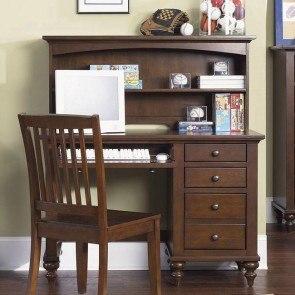 Cinderella Writing Desk W Hutch Cherry By Homelegance