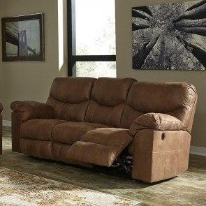 Acieona Slate Reclining Sofa W Drop Down Table By