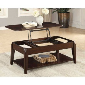 Mallory Oval Cocktail Table W Mirrored Shelf By Hammary