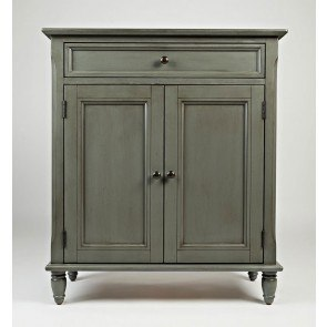 Rustic Accents Cabinet Rubbed Black By Signature Design