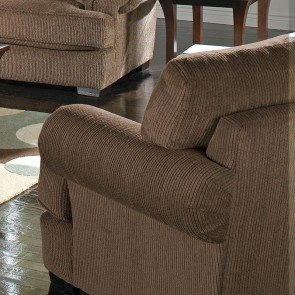 Masoli Mocha Oversized Swivel Accent Chair By Signature