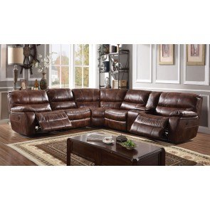 Presley Espresso Reclining Sectional By Signature Design