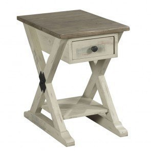 Cross Island End Table W Shelves By Signature Design By