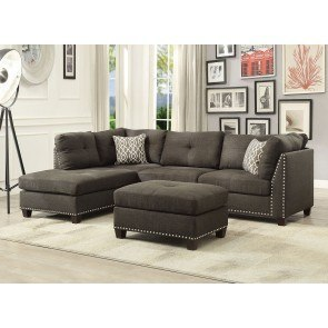 Sorenton Slate Left Facing Chaise Sectional By Signature