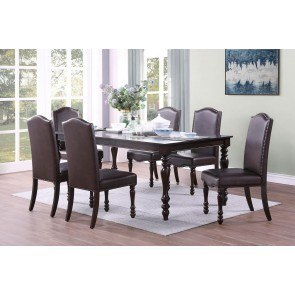Trishelle Counter Height Dining Set W Red Chairs