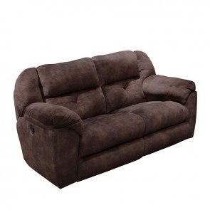 Carrington Lay Flat Reclining Sofa Greystone By