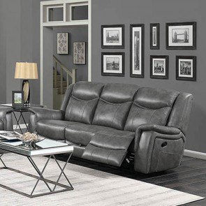 Bromley Brown Reclining Sofa W Power By Signature