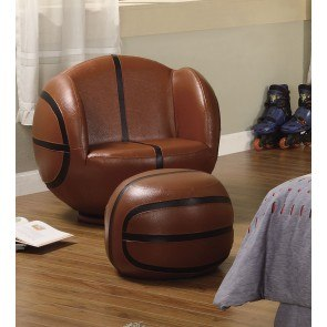 Large Soccerball Chair With Ottoman By Coaster Furniture